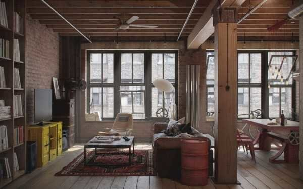 rustic industrial loft home decor style example