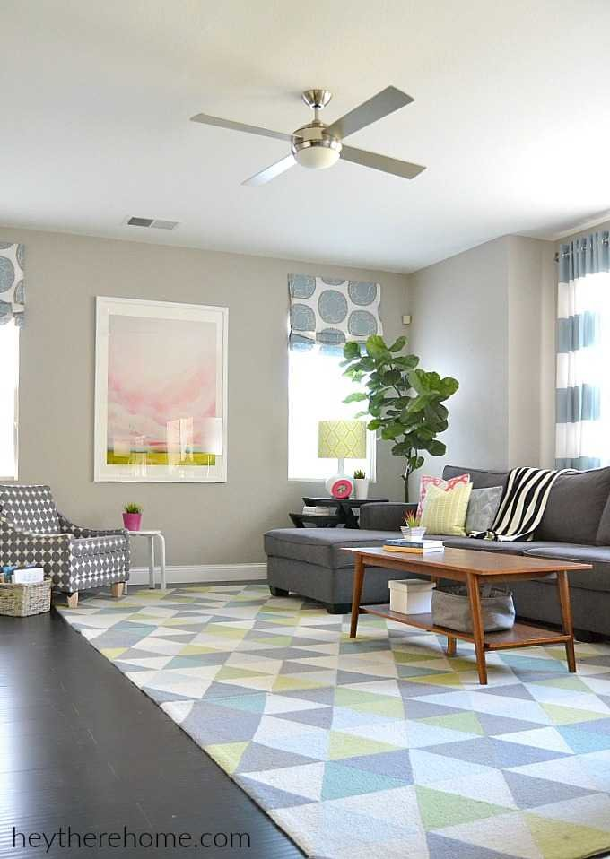 modern colorful family room