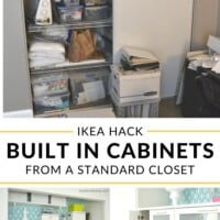 Built in cabinets from a standard closet