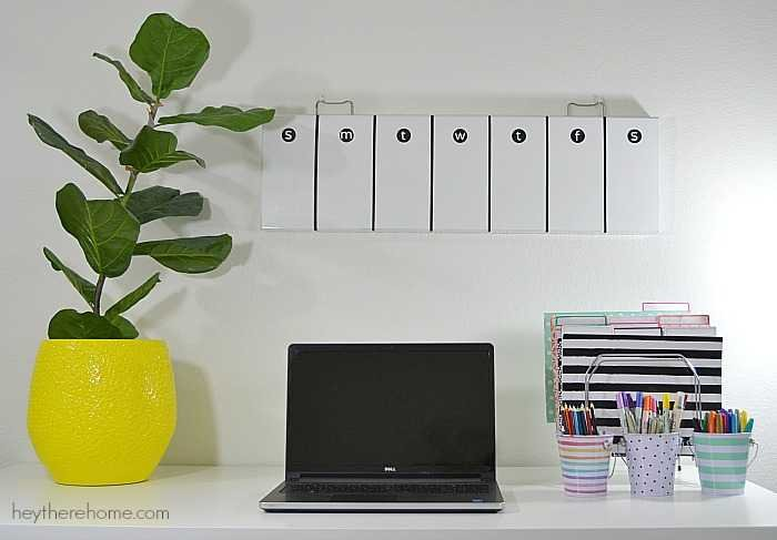 Create a weekly schedule white board from a junk piece of art found at the thrift store