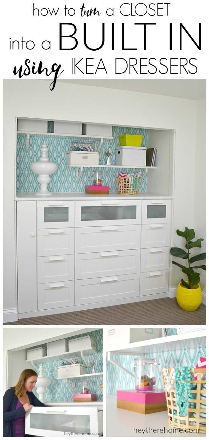 Transform your office with diy built in cabinets - Turning a bedroom into a closet ideas ...