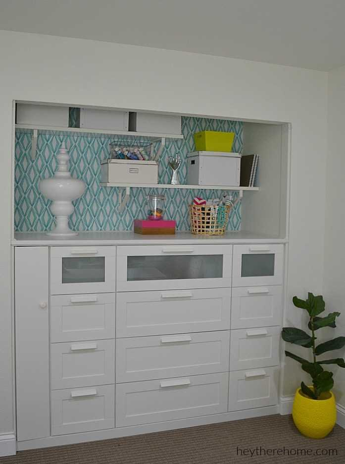 IKEA HACK How To Turn A Standard Closet Into Built In For Craft Storage Using