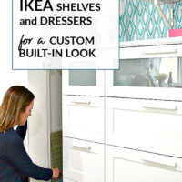 Ikea hack use dressers to make a built in