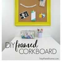 DIY framed corkboard- if you have an old frame and an office in need of organization, this post is for you!