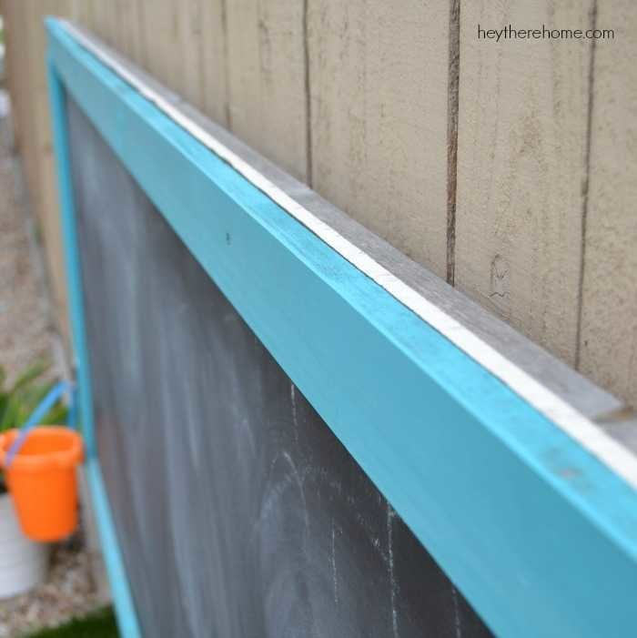 DIY chalkboard no weather damage after 3 years