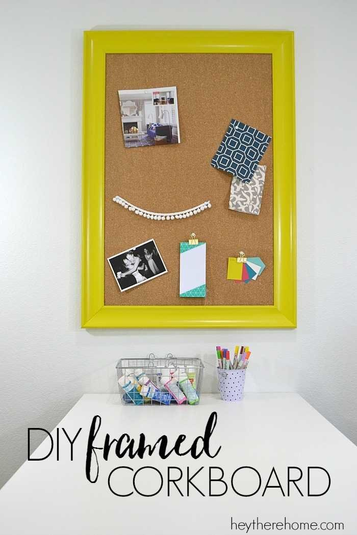diy framed corkboard from an old frame