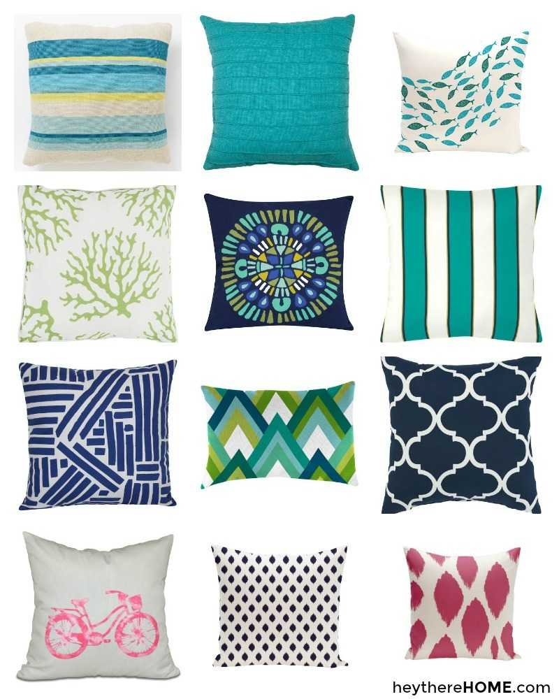 fun and colorful outdoor pillows