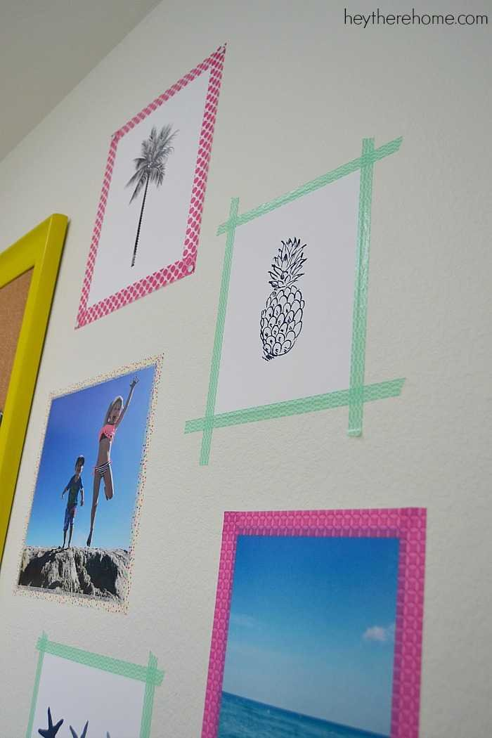 Wall art in 10 minutes with no holes in the wall!