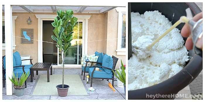 how to plant an artificial fiddle leaf fig tree