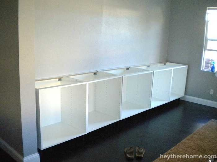 Ikea Hack How To Create A Built In Out Of Cabinets And Shelves