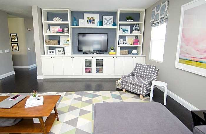 Using a home color palette in a family room