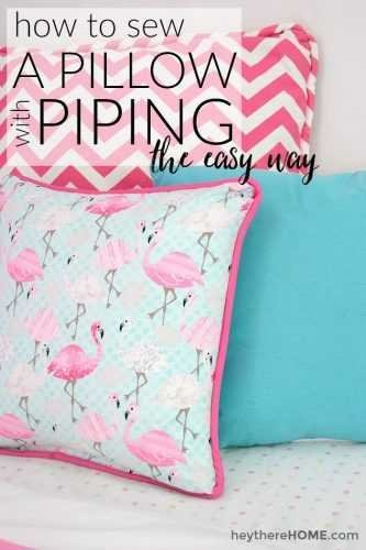How to sew a pillow cover with piping the easy way