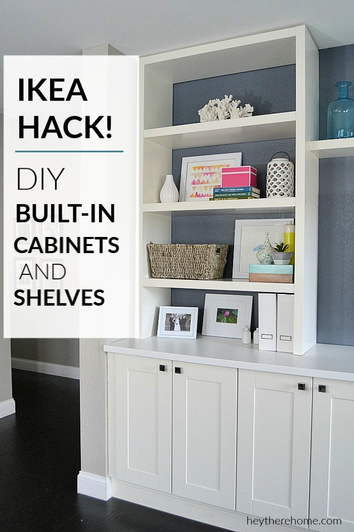Ikea Diy Built In Hack Using Ikea Cabinets And Shelves