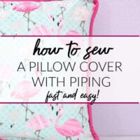 How to sew a pillow cover with piping fast and easy