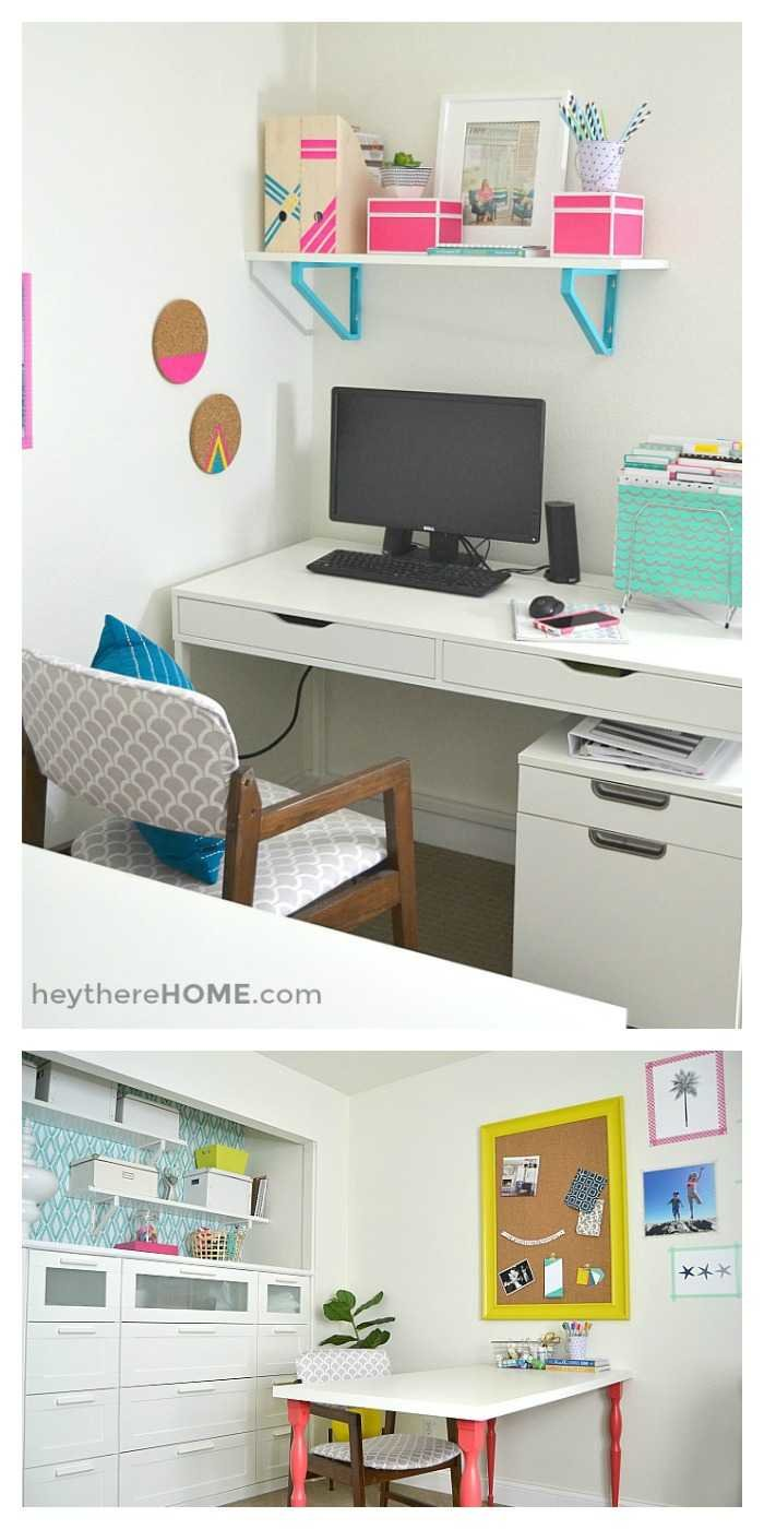 We Finally Have An Organized And Creative Shared Office Space And Craft Room!  Lots Of