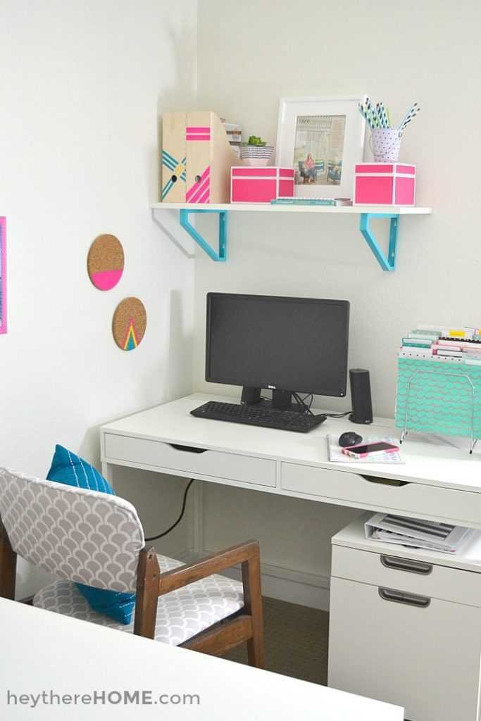 We finally have an organized and creative shared office space and craft room!
