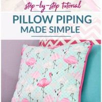 Step by step tutorial pillow piping made simple