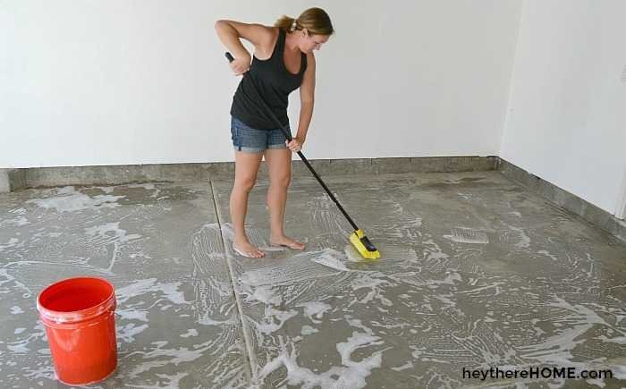 How to Paint Your Garage Floor How To Paint Garage Floor on spray paint garage floor, base concrete floor, diy acid stained concrete floor, painted concrete floor,