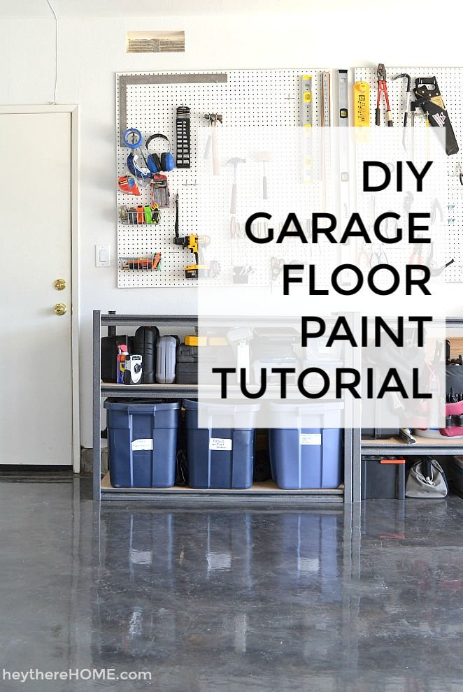 DIY garage floor paint tutorial