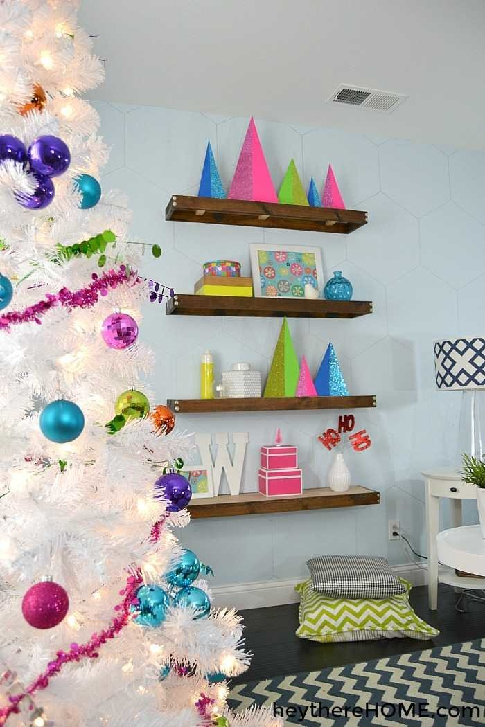 modern christmas home tour with bright colors - Christmas Decorations 2016