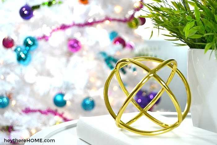 modern Christmas home tour with bright colors