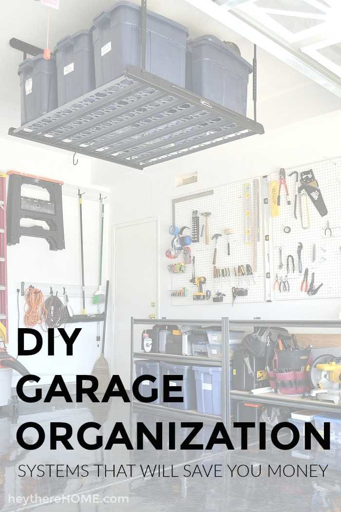 diy weekend pin and organization garage