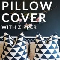DIY Pillow cover with zipper
