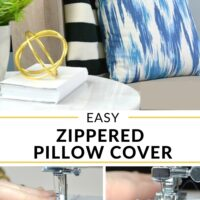 Easy zippered pillow cover