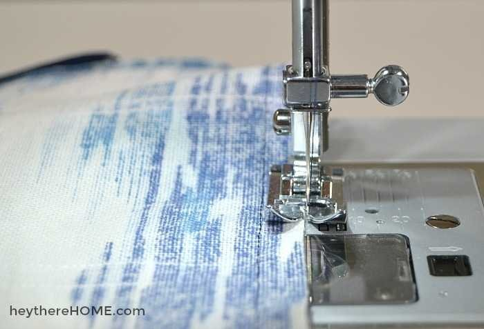 how to make a zippered pillow cover serge edges sewing tutorial