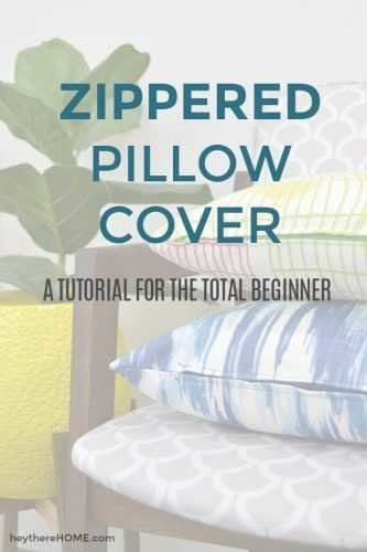 how to make a zippered pillow cover