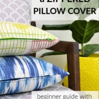 how to make a zippered pillow cover for beginners