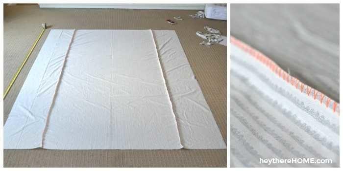 how to attach fabric panels to make a twin duvet cover