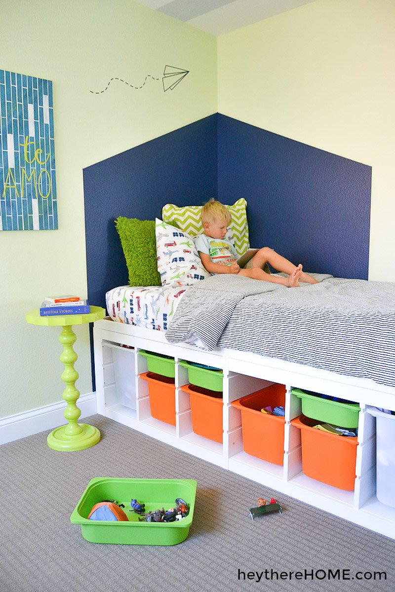 DIY Ikea storage bed