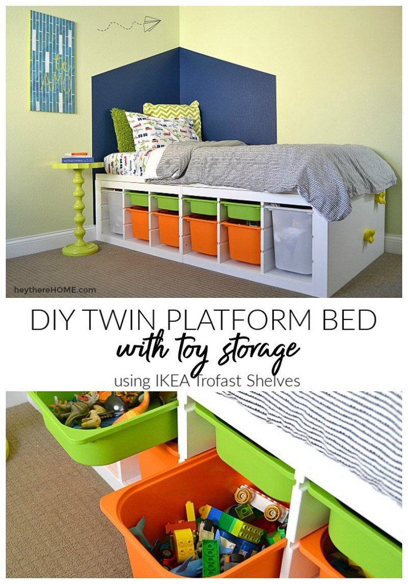 DIY Platform Bed With Storage - IKEA hack
