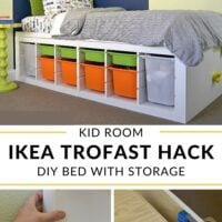 DIY platform bed using IKEA trofast shelves