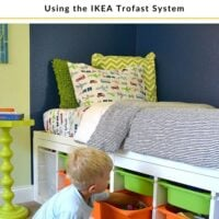 DIY twin bed with toy storage