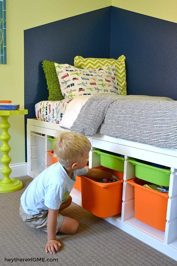 IKEA Hack - DIY Twin Storage Bed & DIY Twin Storage Bed - IKEA Hack