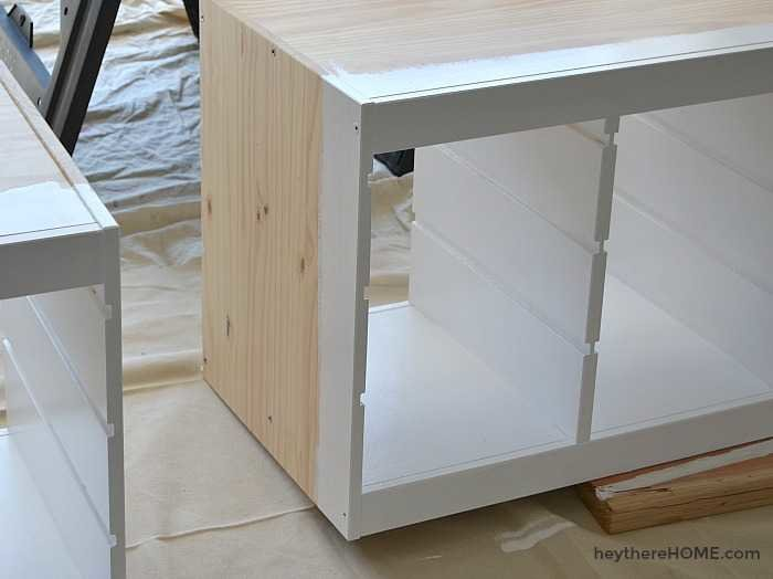 IKEA Hack - Use IKEA shelves to make a twin platform bed with storage