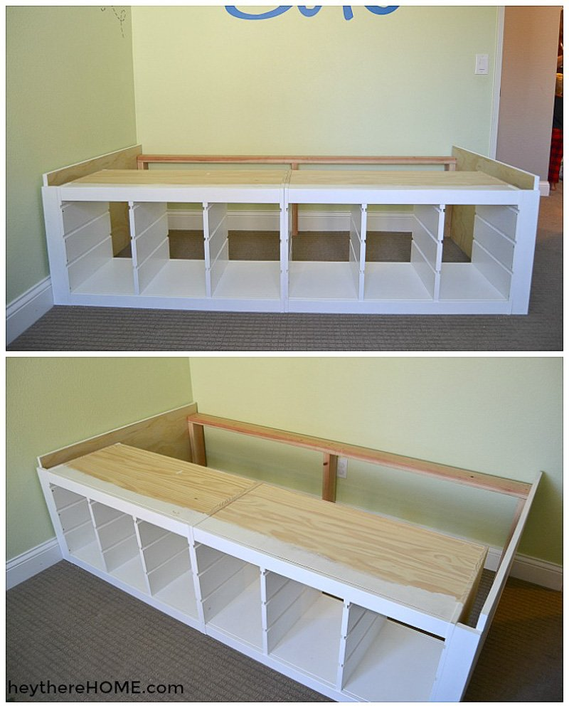 Diy Platform Bed With Storage Perfect For Any Kid S Room,Black And White Wallpaper Aesthetic Nike