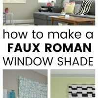 how to make a faux roman shade for your windows