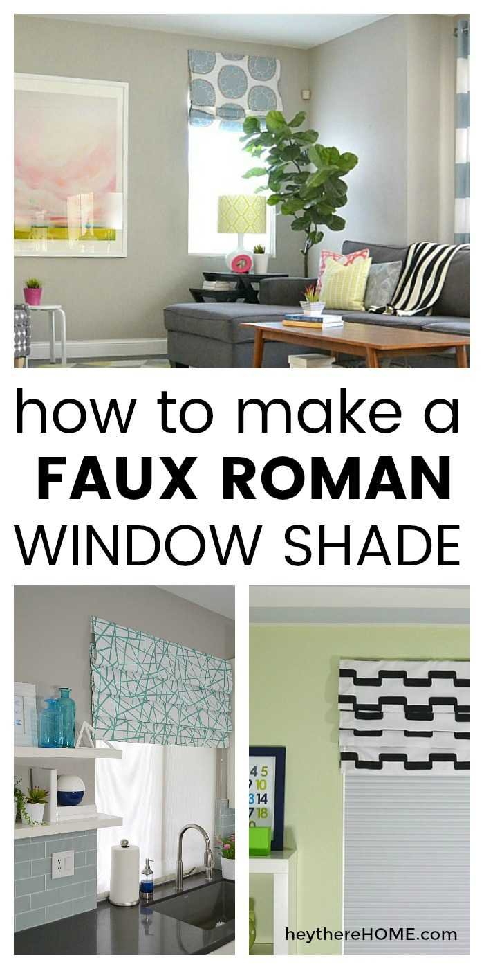 Dress up your windows with a faux roman shade. Click through for the full tutorial.