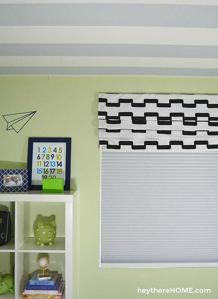 how to make a faux roman shade window treatment