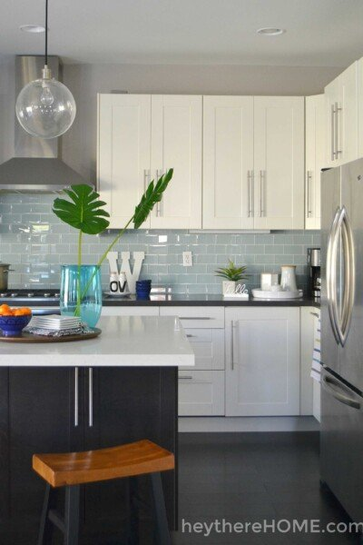 white Ikea kitchen cabinets