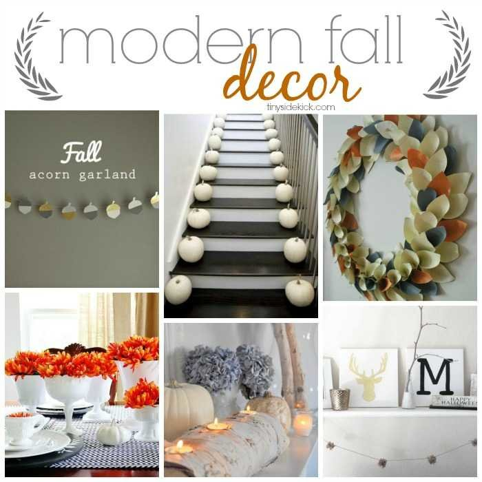 So many great ideas to decorate your home for fall in a really modern way.