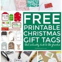free printable christmas gift tags with free download