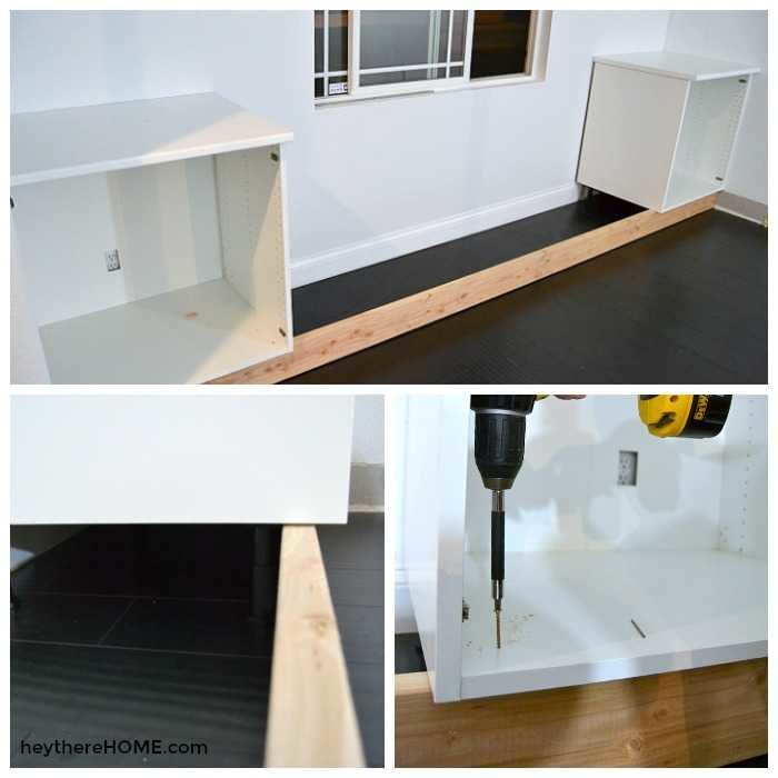 how to build built in cabinets with window seat