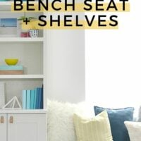 DIY Bench Seat and Shelves