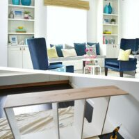 DIY Bookcase + bench seat