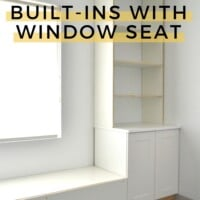 utorial Built-ins with window seat