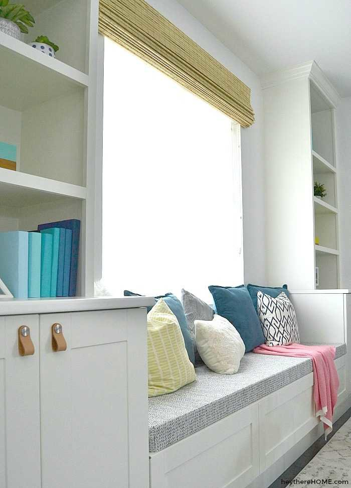 built in bookshelves tutorial